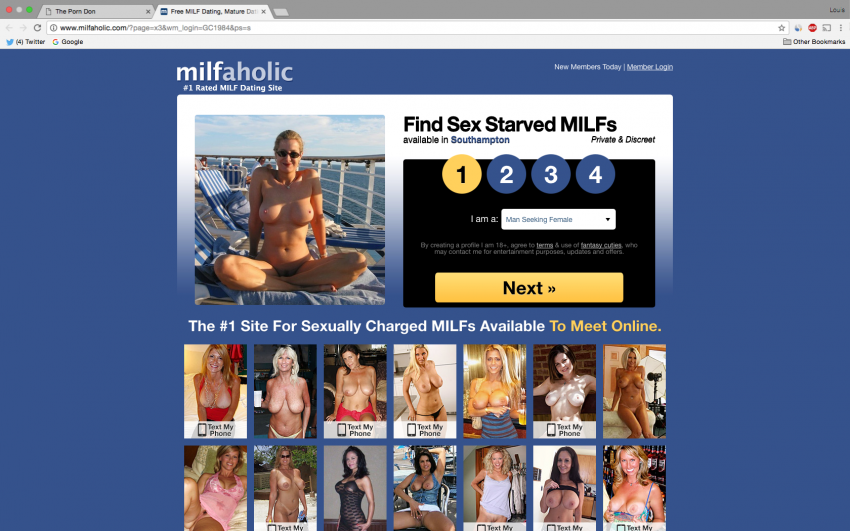 Milfaholic website